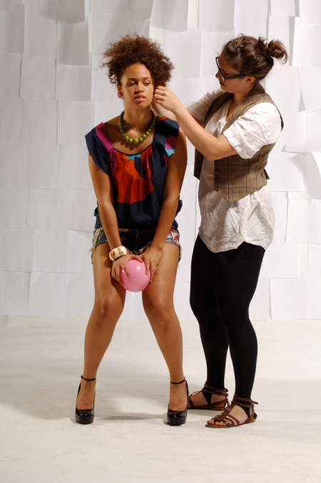 Anna styling Shawne at the latest AG photoshoot