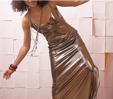 Vintage Silver Metallic Dress, $58